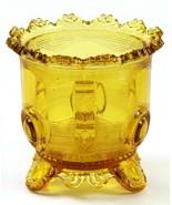 Vintage Amber Glass Dewey EAPG Sugar Bowl Flower, No Lid - £10.88 GBP