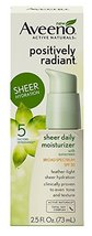 Aveeno Positively Radiant Sheer Moisturizer Spf 30 - 2.5 Oz. (2 Pack) - $17.43