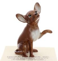 Hagen-Renaker Miniature Ceramic Dog Figurine Chihuahua Hand Shake Brown