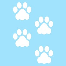 LiteMark 3 Inch White Dog Paw Prints - Pack of 48 - $27.95