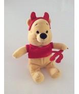 "DISNEY Winnie the Pooh DEVIL POOH W/ HORNS PITCHFORK 8"" Halloween bean b... - $5.89"