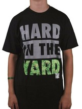 Yea Nice Hard In The Yard Tee Black Gray Green Weed Leaves Marijuana T-Shirt