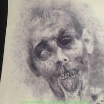 Big CREEPY ROTTING ZOMBIE Window Mirror Cling Halloween Haunted House De... - $4.92