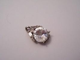 Fossil Brand Crystal Silvertone Pendant Main Stone Appox. 13mm No Chain - $79.99