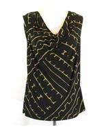 CHAPS Size 1X Matte Jersey Draped Sleeveless Knit Top - $9.99