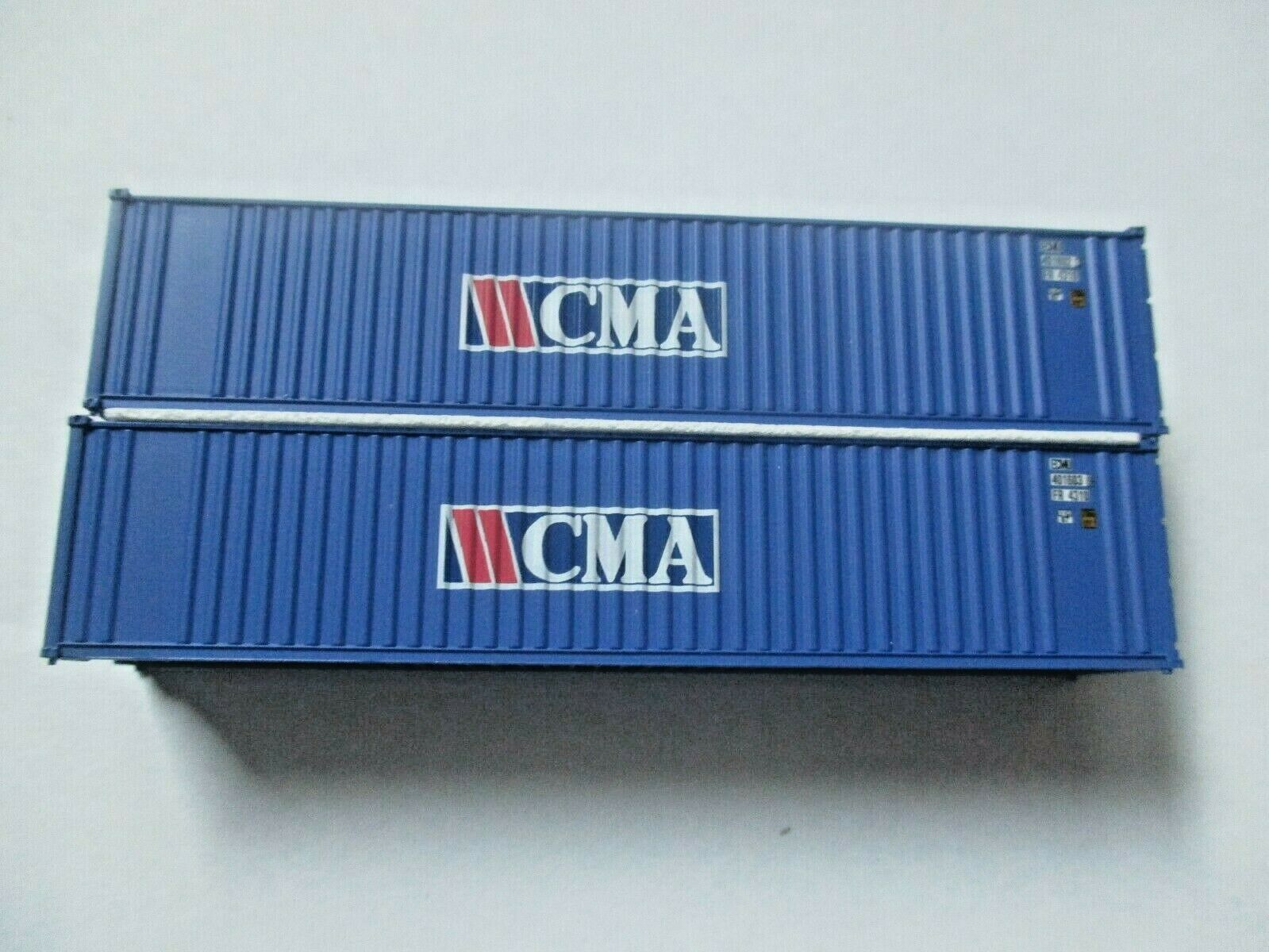 Jacksonville Terminal Company # 405506 CMA (rectangle logo) 40'  Container (N)