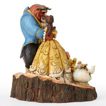 """7.75"""" Beauty - Beast Figurine Carved By Heart by Jim Shore Disney Traditions image 5"""