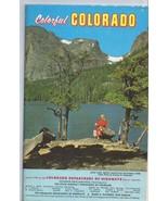 ORIGINAL Vintage 1960 Colorful Colorado Tourist Brochure Map - $12.19