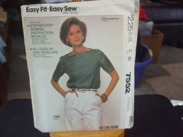 McCall's 7552 Misses Top Pattern - Size 6-20 Bust 30.5 to 42 - $6.72