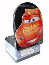 Disney's Cars Lightening McQueen Metal Tin Lunch Box Birthday Party Supp... - $10.84