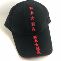 US Navy Baseball Cap Hat Black Red Embroidery Mens One Size Adjustable - $22.49
