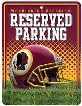 NFL Washington Redskins Hi-Res Metal Parking Sign - $6.92