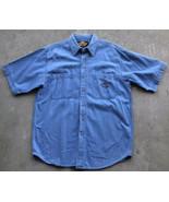 Harley Davidson Denim Men's Button Up Short Sleeve Shirt Size Large - $39.60