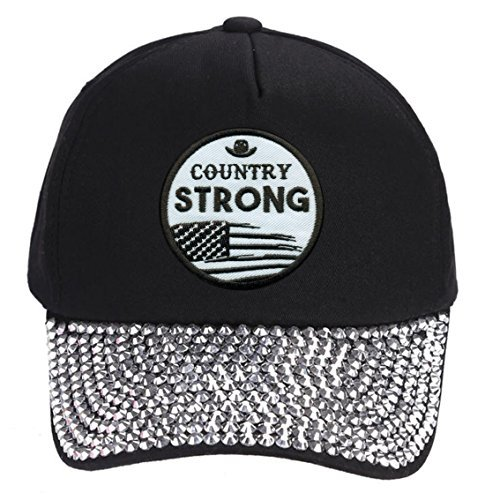 Country Strong Hat - Style Cap Color Options (Rhinestones)