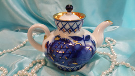 Lomonosov teapot Rooster and hen. Russian Porce... - $49.00