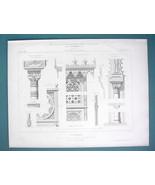 ARCHITECTURE 3 PRINTS 1869 - BARDO Tunis Pavilion at Paris 1867 Expo Det... - $24.30