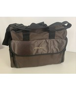 Eddie Bauer Diaper Bag Brown W/ Changing Pad Double Straps - $17.77