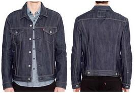 Levi's Men's Dark Blue Denim Jeans Jacket Coat Regular Rigid Button Up 7... - $104.00