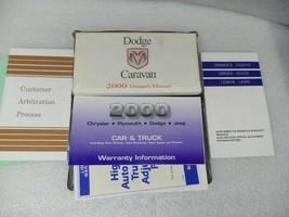 Dodge Caravan 2000 Owners Manual 16699 - $13.81