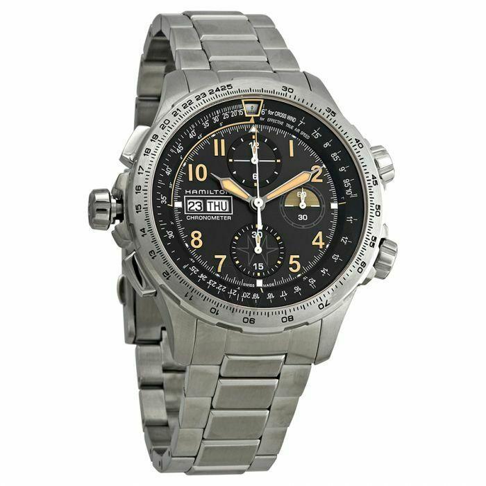 Hamilton Men's H77796135 Khaki X-Wind' Chronograph Automatic 45mm Watch