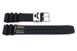Genuine  Citizen Diver's 19mm Black Rubber Watch band Strap 59-L7331 - $39.95