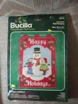 Bucilla Christmas Heirloom Happy Holidays Jeweled Wall Hanging 48792... - $23.75