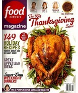 Food Network Magazine, November 2017, Holiday Recipes Thanksgiving Chris... - $1.99