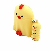 Romane AirPods Peep Peep Protective Silicone Skin Cover Case Keychain (Yellow) image 1