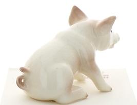 Hagen-Renaker Miniature Ceramic Pig Figurine White Mama and Baby Piglet image 11