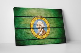 Vintage Washington State Flag Gallery Wrapped Canvas Wall Art - $44.50+