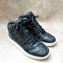 Adidas Womens Hoops 2.0 DB1226 Sz 8 M Black Mid Top Lace Up Sneakers - $36.99