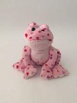 "GANZ WEBKINZ pink red purple LOVE FROG W/ HEARTS 8"" NO CODE plush - $6.79"