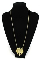 Vintage 1970s Napier Egyptian Revival Pharaoh Pendant Necklace Statement... - $48.91