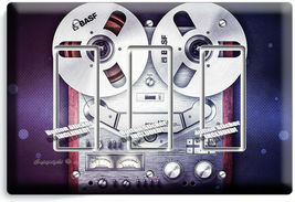 VINTAGE REEL TO REEL RECORDER PLAYER LIGHTSWITCH OUTLET PLATE MUSIC STUDIO DECOR image 11