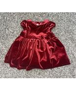 infant girls h&m red velour christmas dress 3-6 months - $8.80