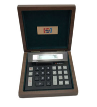 Pepsi Collectible Alcraft Wooden Box Inlay Calculator Employee Desk Set ... - $34.65