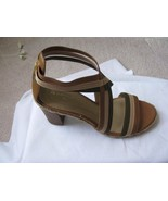 Naturalizer N5 Comfort Women's Tan and Green Criss Cross Sandal 8M New - $38.61