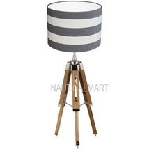 Nauticalmart Classical Designer Chrome Finish Tripod Table Lamp Stand. - $128.68