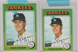 1975 Topps Dave Pagan Yankees #648 Mini and Regular  - $3.99