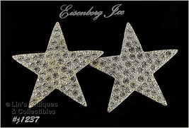 Eisenberg Ice Rhinestone Star Shape Earrings Unsigned (Inventory #J1237) - $40.00