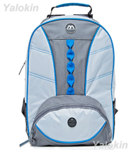 NEW Light Grey With Blue Webbing Fashion Unisex Backpack Shoulder Book Bag - $23.99