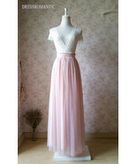 Blush High Waisted Tulle Maxi Skirt Blush Bridesmaid Skirts Full Length NWT