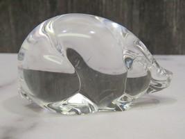 """Steuben Crystal Glass Pig  Signed 3 1/8"""" Hand Cooler - $49.01"""