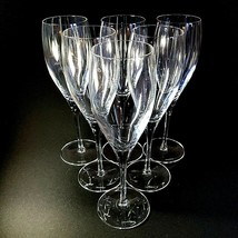 6 (Six) VILLEROY & BOCH TORINO Hand Blown Crystal Champagne Flutes D/C -... - $284.99