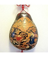 Vintage Carved Asian Gourd Wall Hanging Shell Women Washing Clothing - $98.99