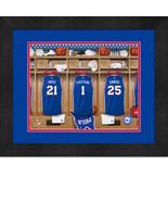 Personalized Philadelphia 76ers 12 x 16 Locker Room Framed Print - $63.95