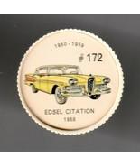 1958 EDSEL CITATION Jell-O Picture Wheel #172 - $5.00