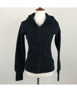 Women's Lululemon Athletica Black Full Zip-Up Hoodie sz 4 - $66.65
