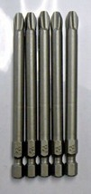 "Bosch 1609433840 #3 x 3-1/2"" Phillips Insert Bit Screw Tips USA 5pcs - $2.23"