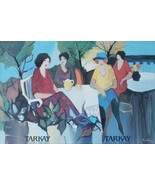 Rare Itzchak Tarkay  - Garden Party - Large Exhibition Poster Givon Prin... - $696.24